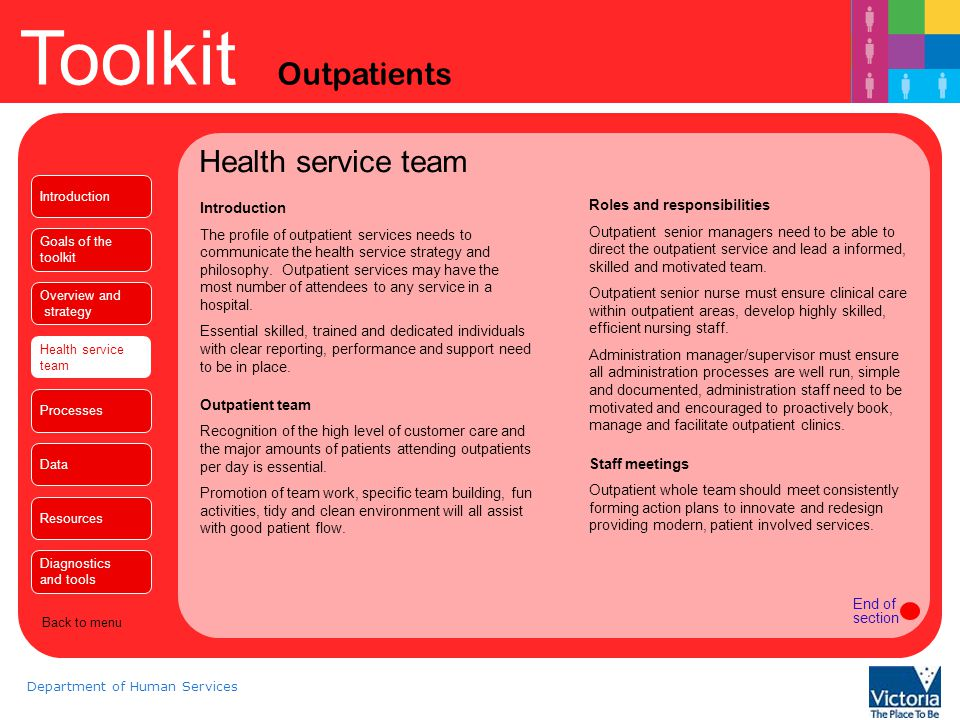 Health service team Introduction Roles and responsibilities