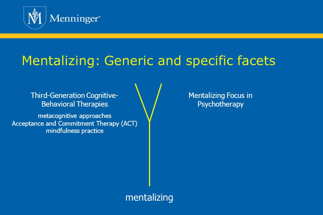 Mentalizing: Generic and specific facets