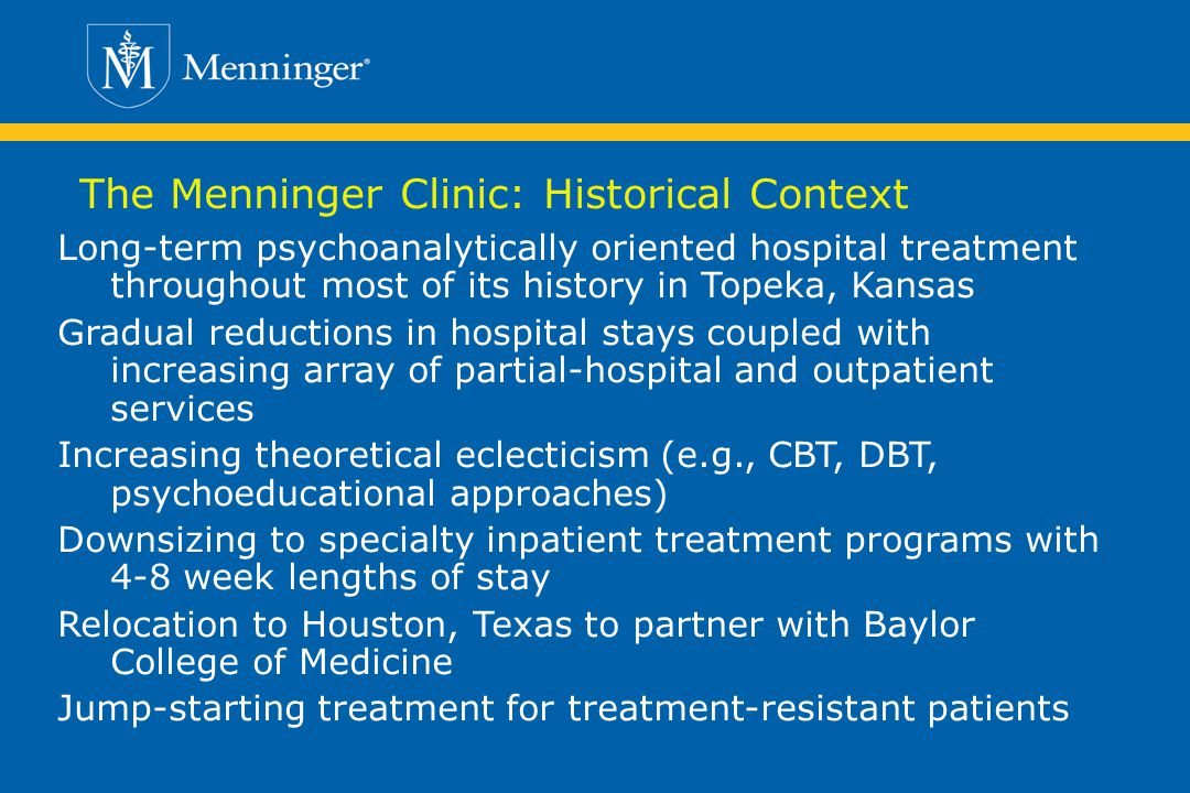The Menninger Clinic: Historical Context
