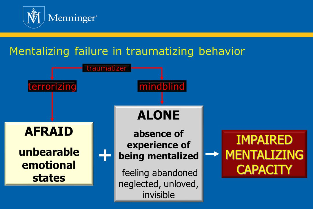 Mentalizing failure in traumatizing behavior