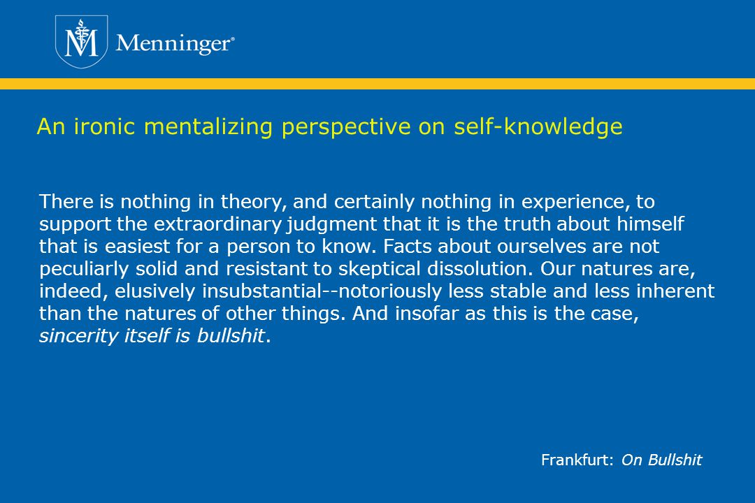 An ironic mentalizing perspective on self-knowledge