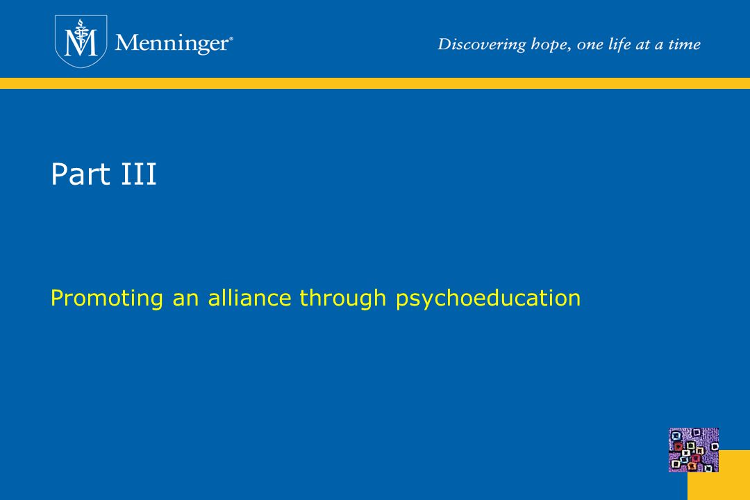 Promoting an alliance through psychoeducation