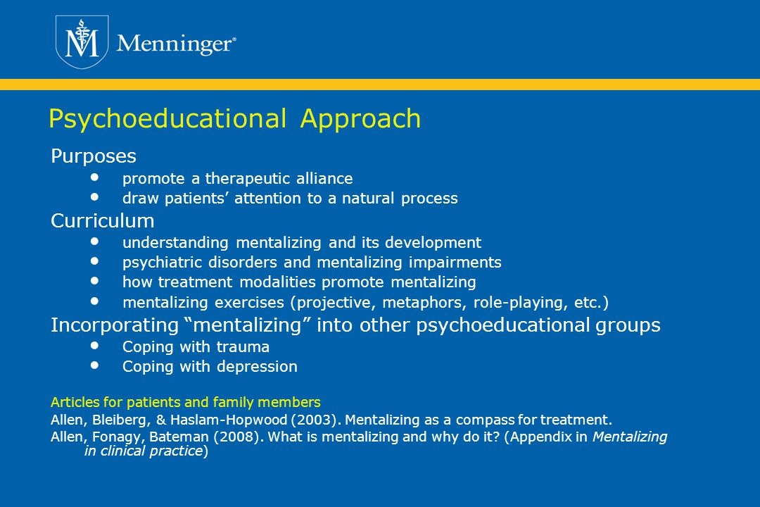 Psychoeducational Approach