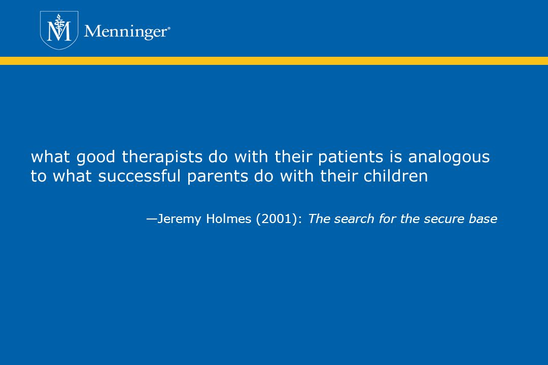 what good therapists do with their patients is analogous to what successful parents do with their children