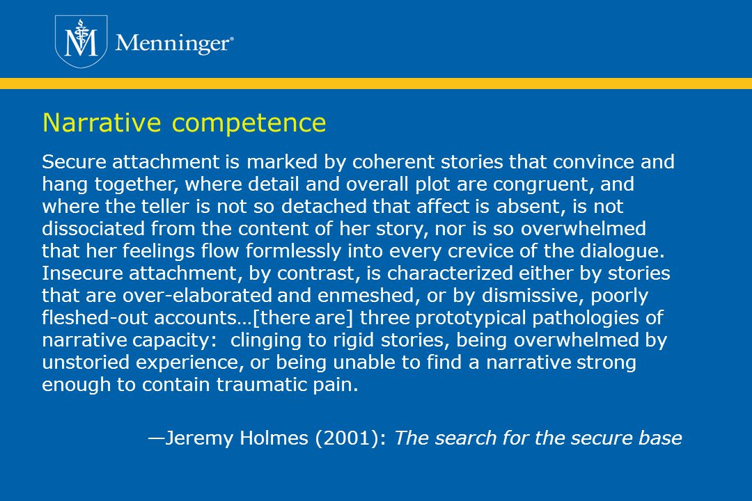 Narrative competence