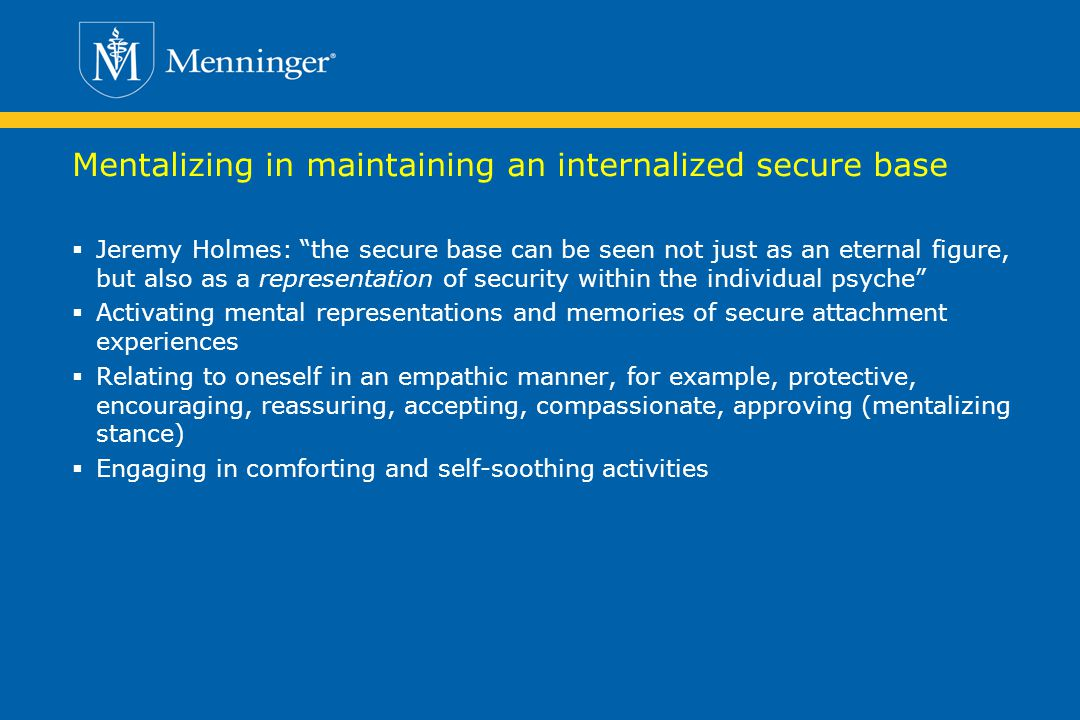 Mentalizing in maintaining an internalized secure base
