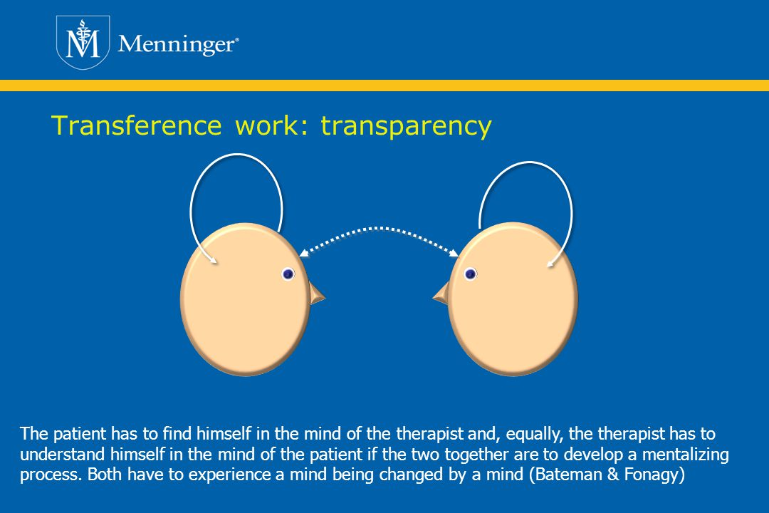 Transference work: transparency