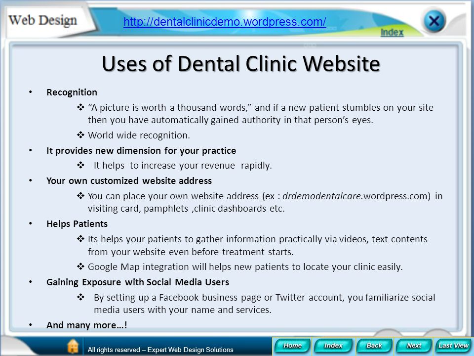 Uses of Dental Clinic Website