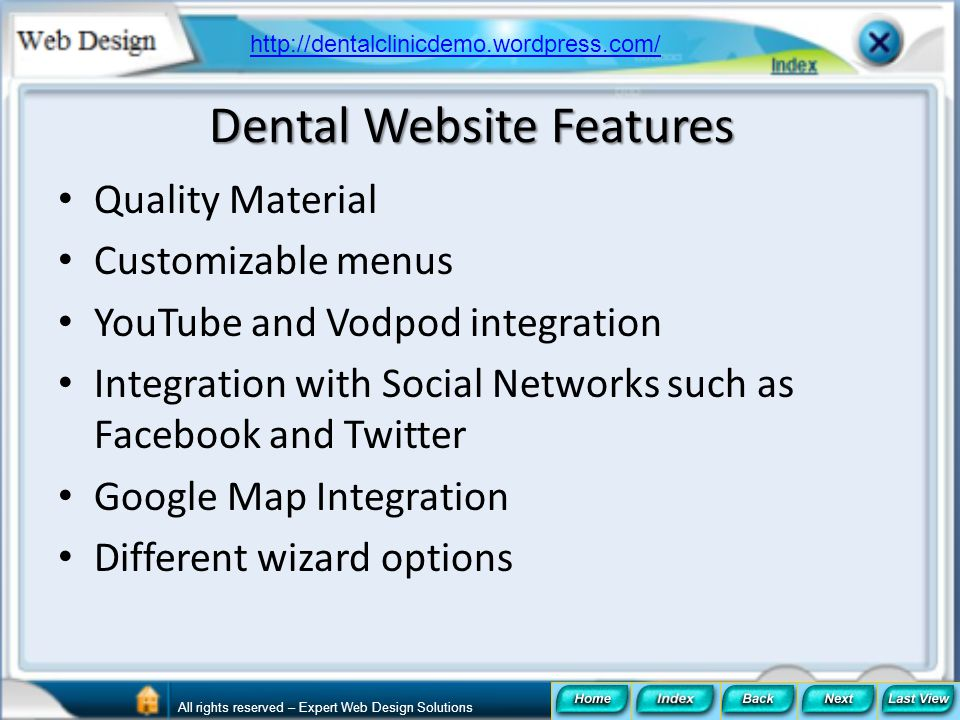 Dental Website Features
