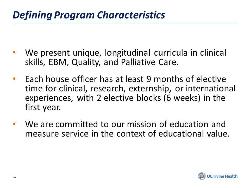 Defining Program Characteristics