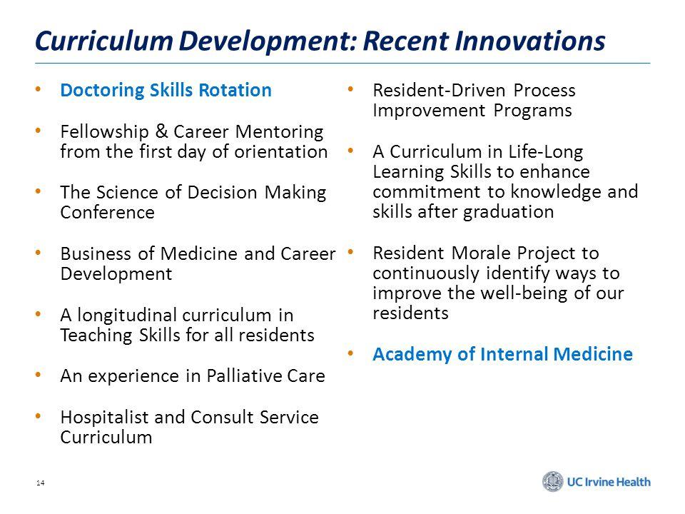 Curriculum Development: Recent Innovations