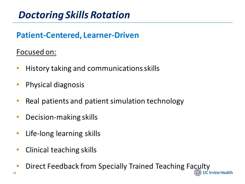 Doctoring Skills Rotation