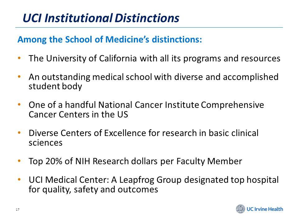 UCI Institutional Distinctions