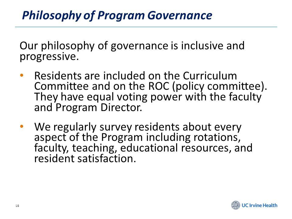 Philosophy of Program Governance