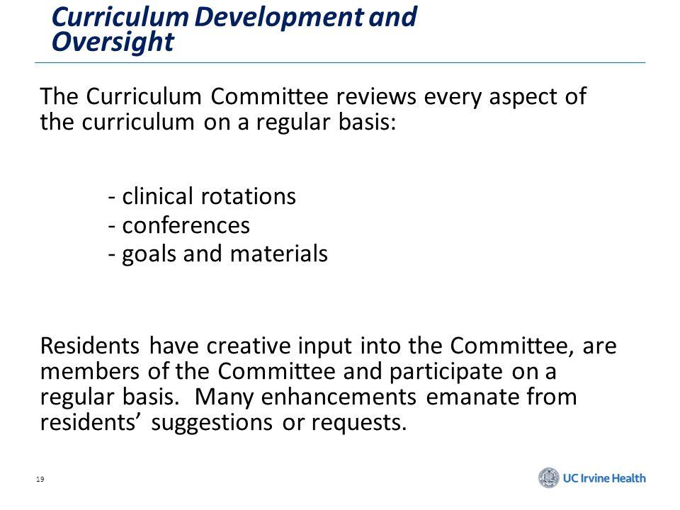 Curriculum Development and Oversight