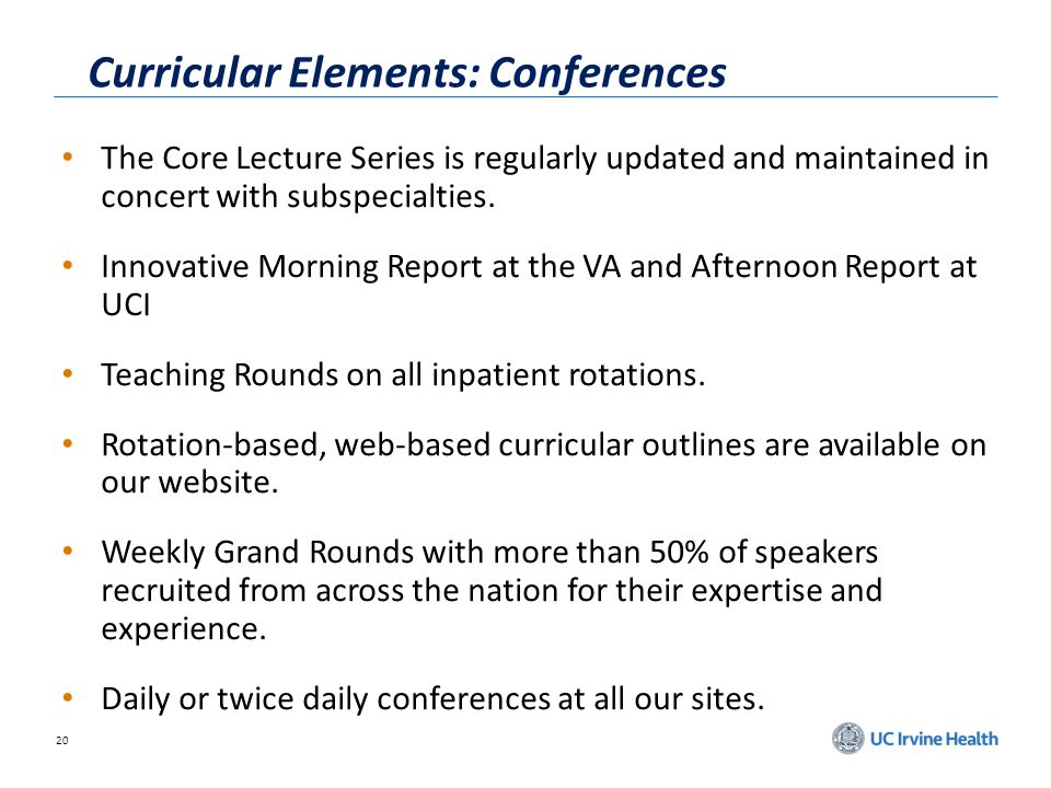 Curricular Elements: Conferences