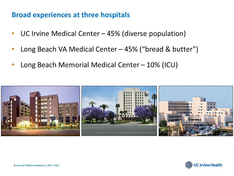 Broad experiences at three hospitals