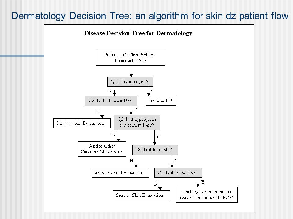 Dermatology Decision Tree: an algorithm for skin dz patient flow