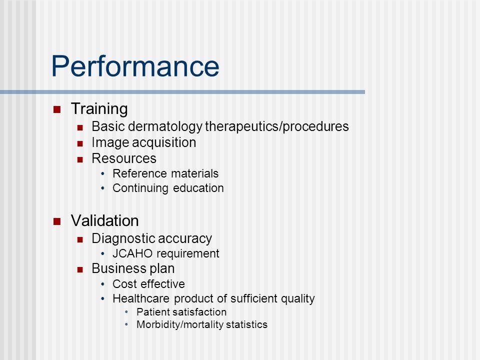 Performance Training Validation