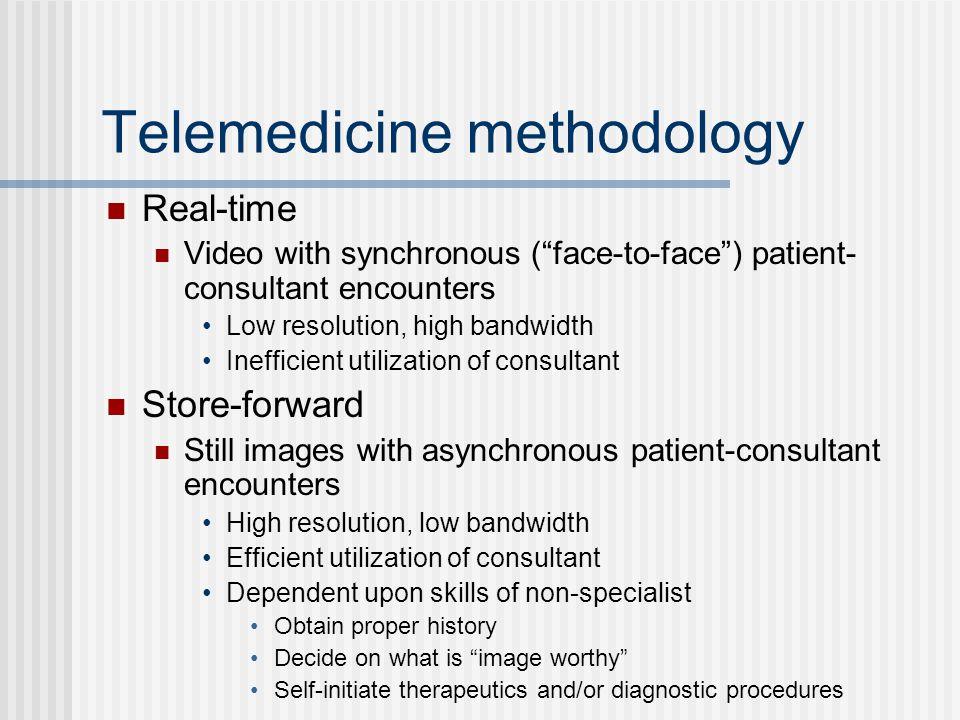 Telemedicine methodology
