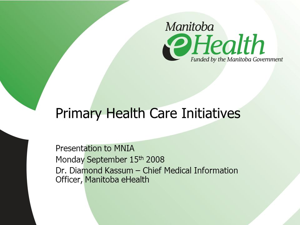 Primary Health Care Initiatives