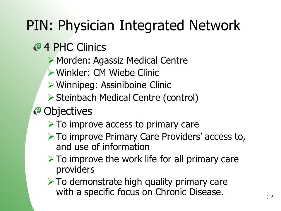 PIN: Physician Integrated Network
