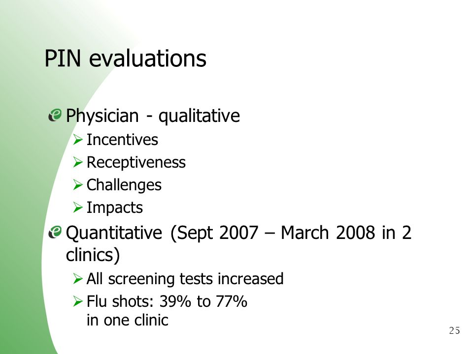 PIN evaluations Physician - qualitative