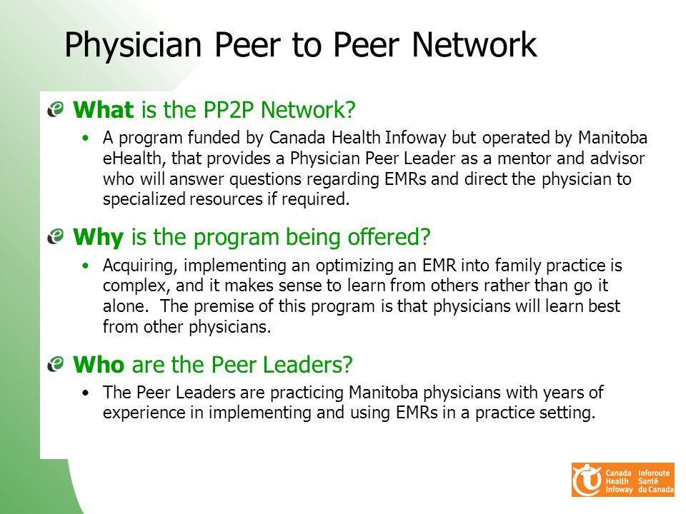 Physician Peer to Peer Network
