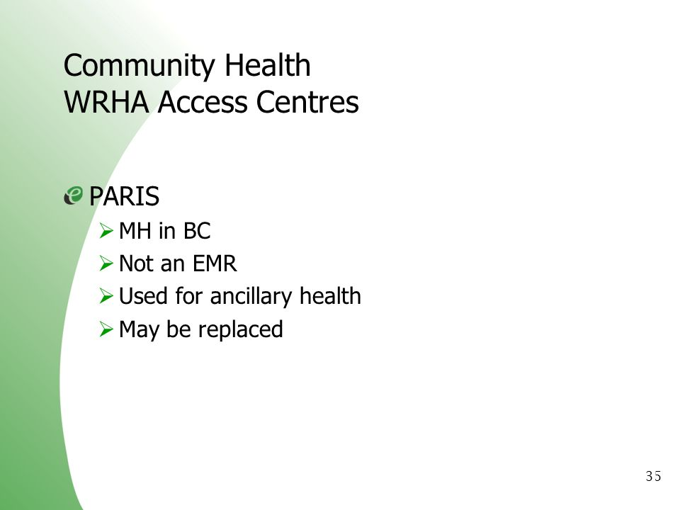 Community Health WRHA Access Centres
