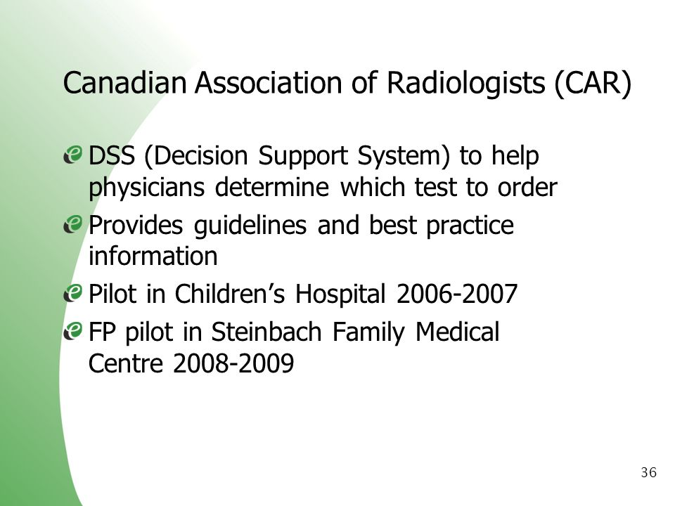 Canadian Association of Radiologists (CAR)