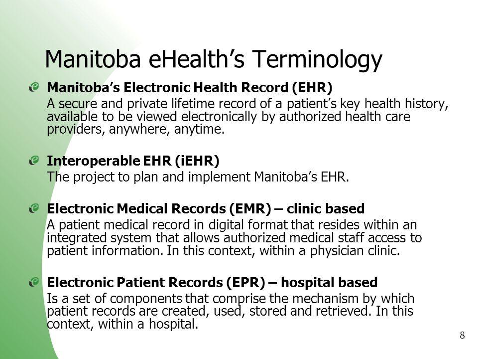 Manitoba eHealth's Terminology