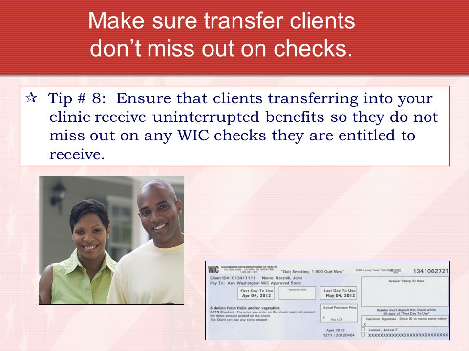 Make sure transfer clients don't miss out on checks.