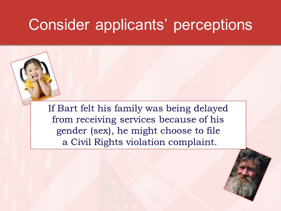 Consider applicants' perceptions