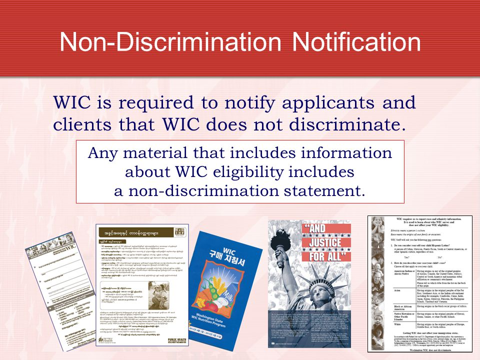 Non-Discrimination Notification
