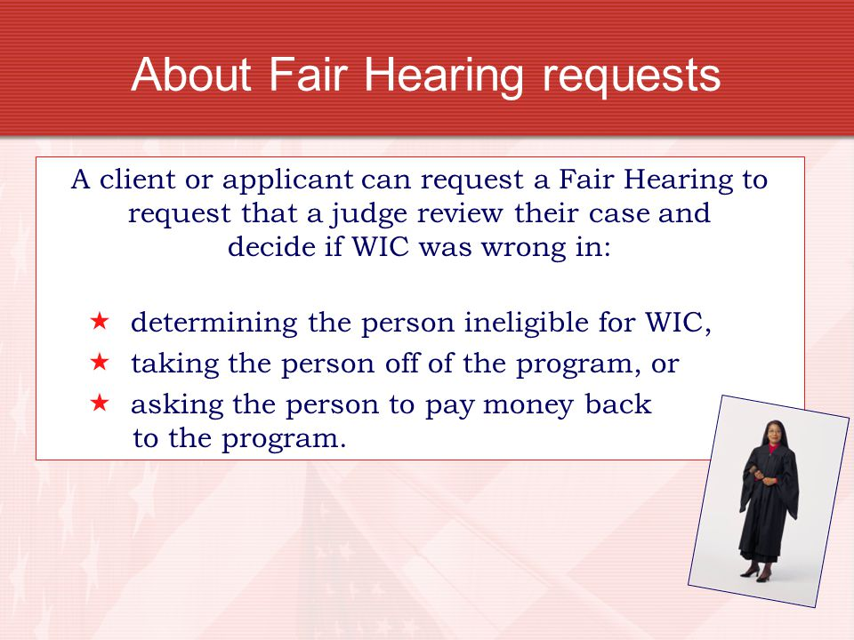 About Fair Hearing requests