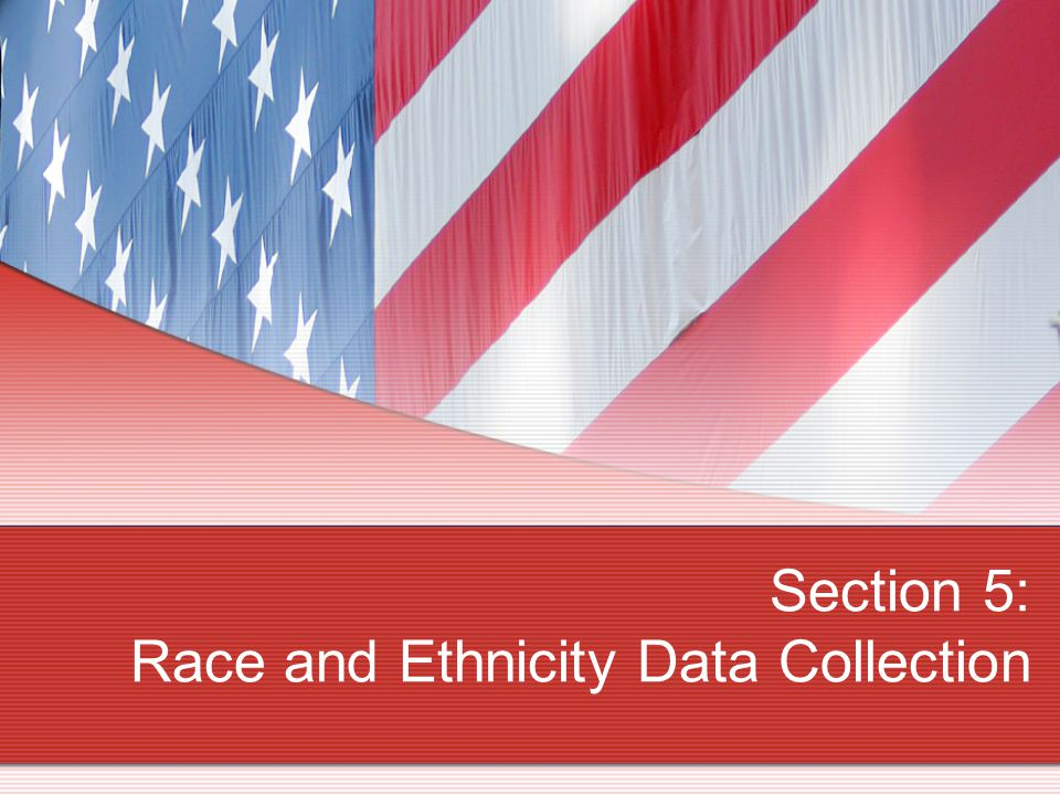 Section 5: Race and Ethnicity Data Collection