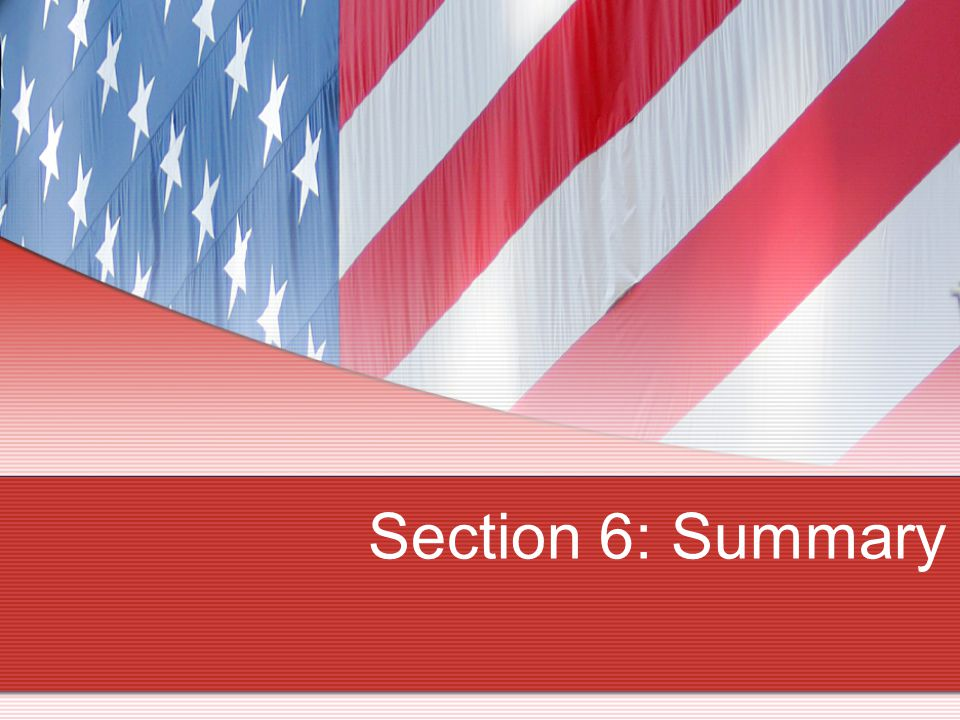 Section 6: Summary