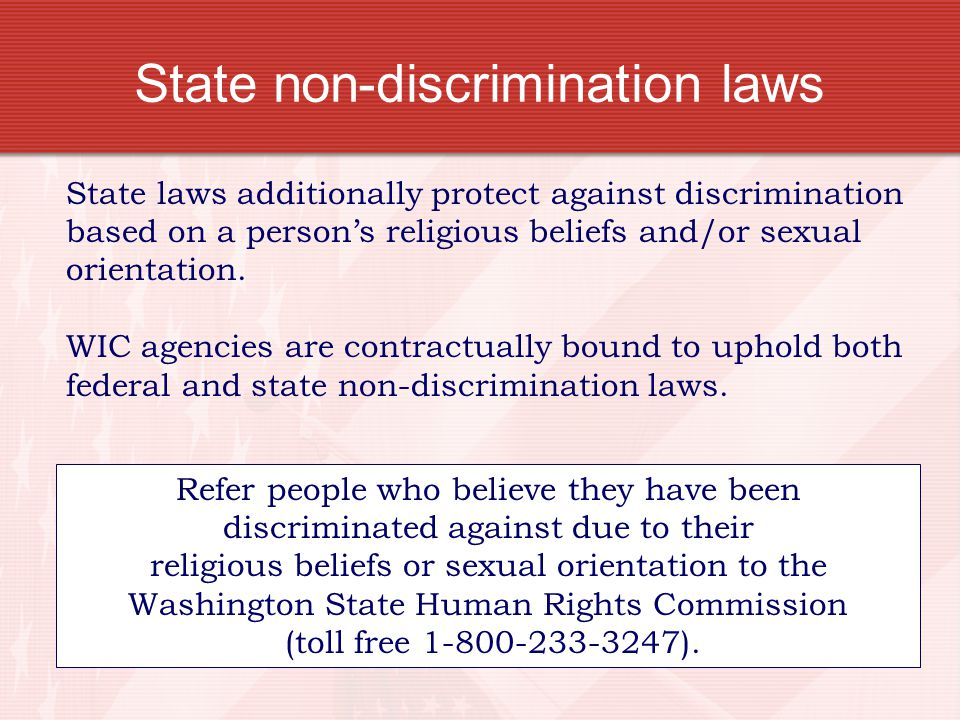 State non-discrimination laws
