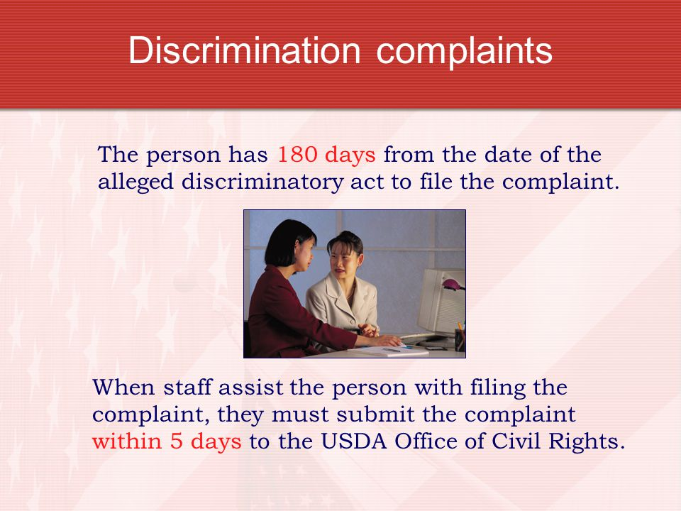 Discrimination complaints