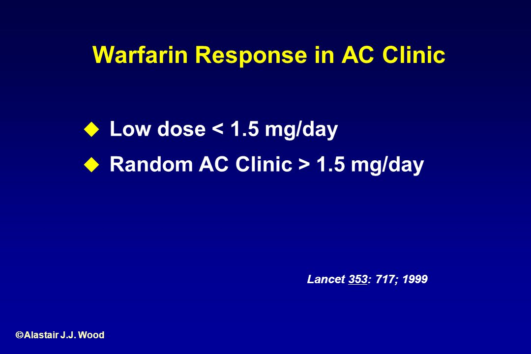 Warfarin Response in AC Clinic