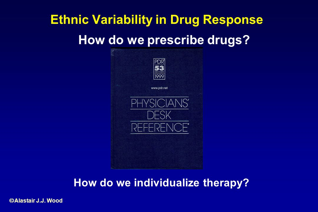 Ethnic Variability in Drug Response