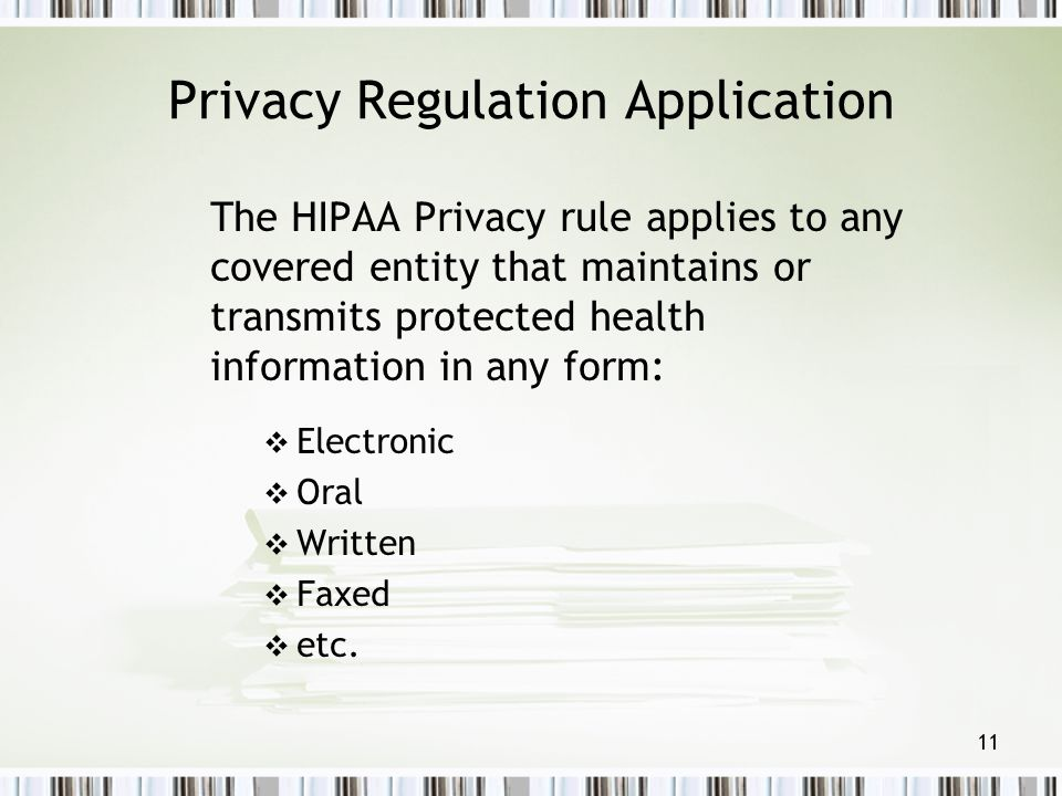 Privacy Regulation Application