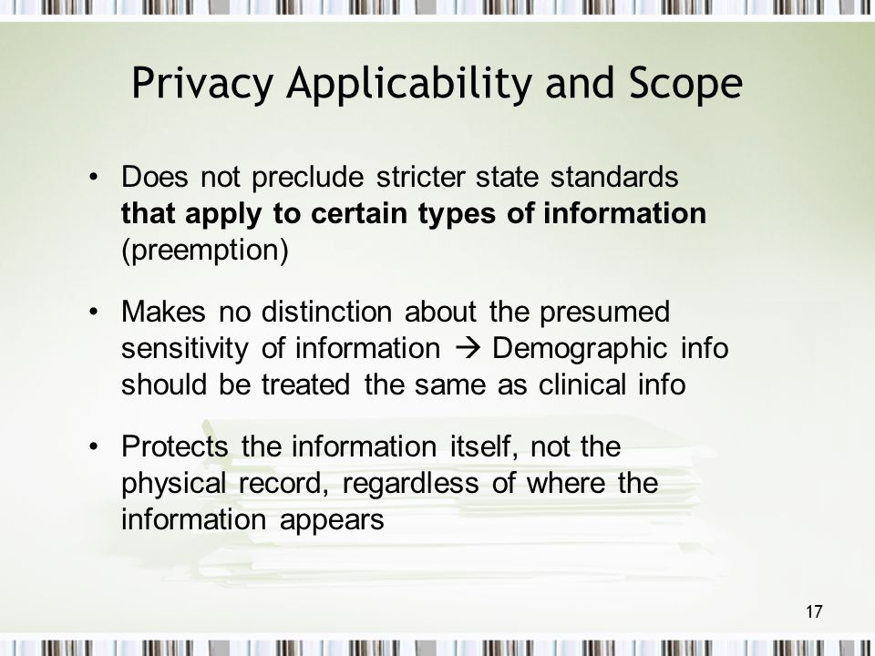 Privacy Applicability and Scope