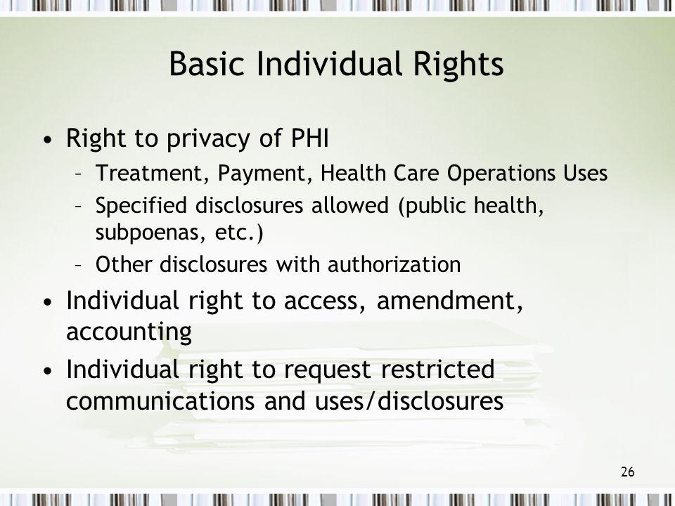 Basic Individual Rights