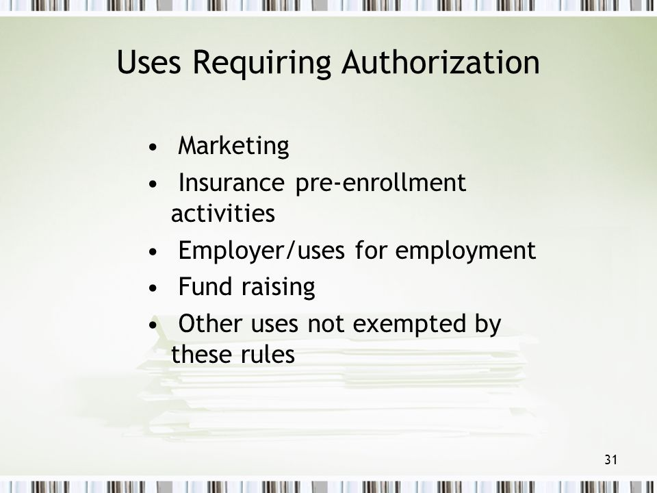 Uses Requiring Authorization