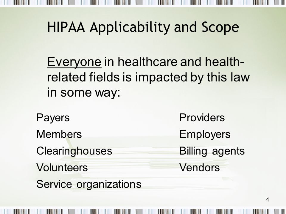HIPAA Applicability and Scope