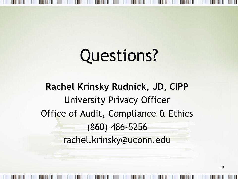 Rachel Krinsky Rudnick, JD, CIPP