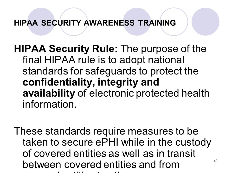 HIPAA SECURITY AWARENESS TRAINING