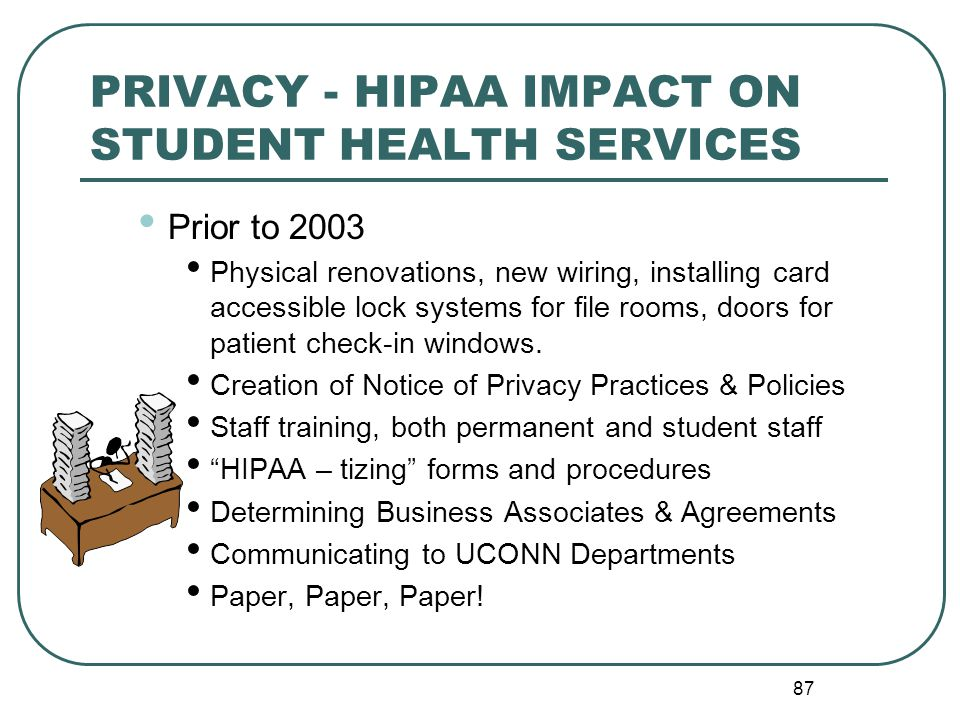 PRIVACY - HIPAA IMPACT ON STUDENT HEALTH SERVICES