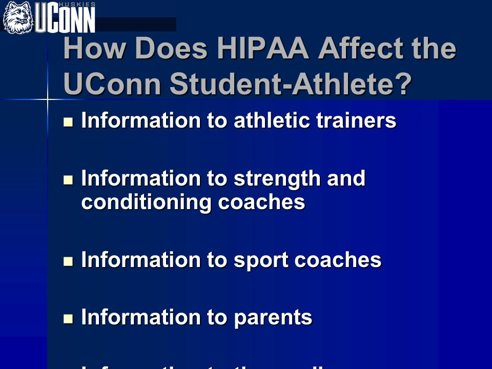 How Does HIPAA Affect the UConn Student-Athlete